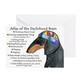 Unique Dachshund brain Greeting Cards (Pk of 10)