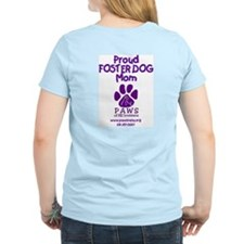 Proud PAWS Foster Mom women's T (pink)
