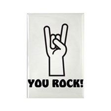 You Rock Hand Rectangle Magnet