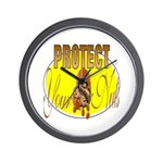 Protect your nuts Wall Clock