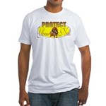Protect your nuts Fitted T-Shirt