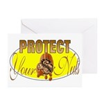Protect your nuts Greeting Cards (Pk of 10)