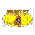 Protect your nuts Postcards (Package of 8)