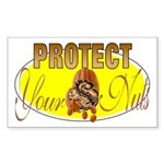 Protect your nuts Rectangle Sticker
