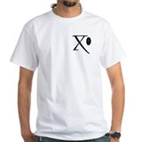 """X"" - Celtic Letters White T-shirt"