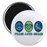 "PEACE - LOVE - GUARD 2.25"" Magnet (10 pack)"