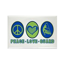 PEACE - LOVE - GUARD Rectangle Magnet (10 pack)