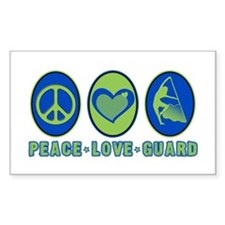 PEACE - LOVE - GUARD Rectangle Decal