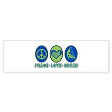 PEACE - LOVE - GUARD Bumper Bumper Sticker