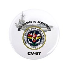 "USS John F. Kennedy CV-67 3.5"" Button (100 pack)"