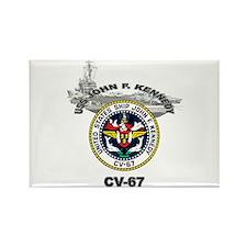 USS John F. Kennedy CV-67 Rectangle Magnet (100 pa