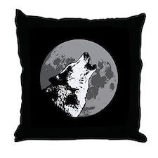 Howlin' Wolf Throw Pillow