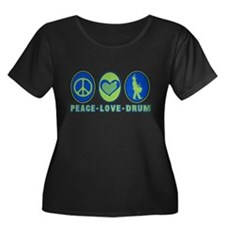 PEACE - LOVE - DRUM T