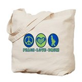 PEACE - LOVE - DRUM Tote Bag