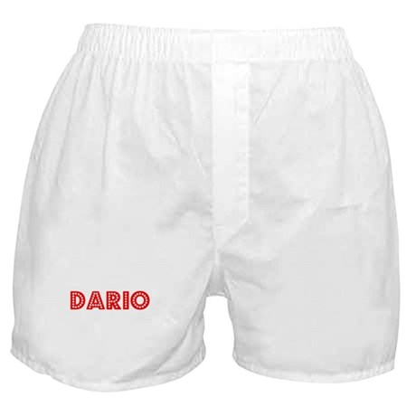 Retro Dario (Red) Boxer Shorts