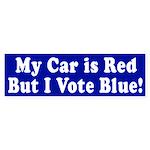 Red Car, Blue Vote (bumper sticker)