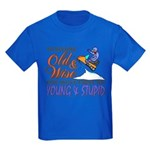 Old & Wise = Young & Stupid Kids Dark T-Shirt
