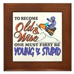 Old & Wise = Young & Stupid Framed Tile