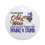 Old & Wise = Young & Stupid Ornament (Round)