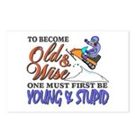 Old & Wise = Young & Stupid Postcards (Package of