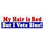 Red Hair, Blue Vote (bumper sticker)