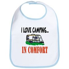 I Love Camping In Comfort Bib