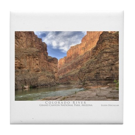 Grand Canyon/Colorado River Tile Coaster