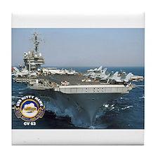 USS Kitty Hawk CV-63 Tile Coaster
