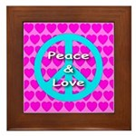 Peace Symbol Framed Tile