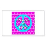 Peace Symbol Rectangle Sticker