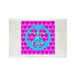 Peace Symbol Rectangle Magnet (10 pack)