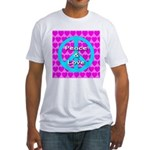 Peace Symbol Fitted T-Shirt