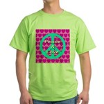 Peace Symbol Green T-Shirt