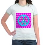 Peace Symbol Jr. Ringer T-Shirt