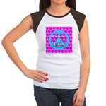 Peace Symbol Women's Cap Sleeve T-Shirt