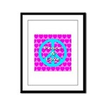 Peace Symbol Framed Panel Print