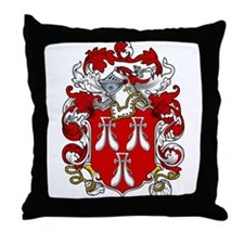 Roos Family Crest Throw Pillow