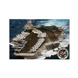 USS John F. Kennedy CV-67 Rectangle Magnet
