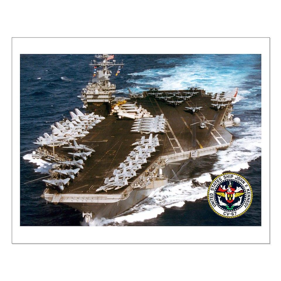 USS John F. Kennedy CV 67 Aircraft Carrier  USA NAVY PRIDE