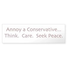 Annoy a Conservative Bumper Car Sticker