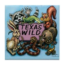 Cute Mess with texas Tile Coaster