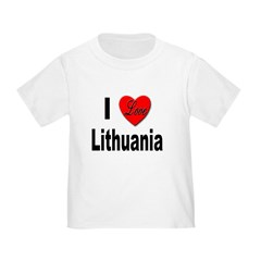 I Love Lithuania Toddler T-Shirt