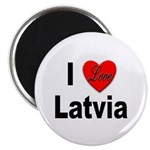 I Love Latvia Magnet