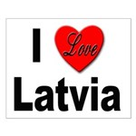 I Love Latvia Small Poster