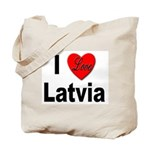 I Love Latvia Tote Bag