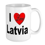 I Love Latvia Large Mug