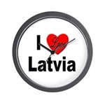 I Love Latvia Wall Clock