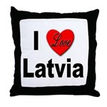 I Love Latvia Throw Pillow
