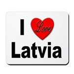 I Love Latvia Mousepad