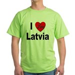 I Love Latvia Green T-Shirt